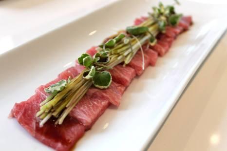 Sashimi de ventresca de atún