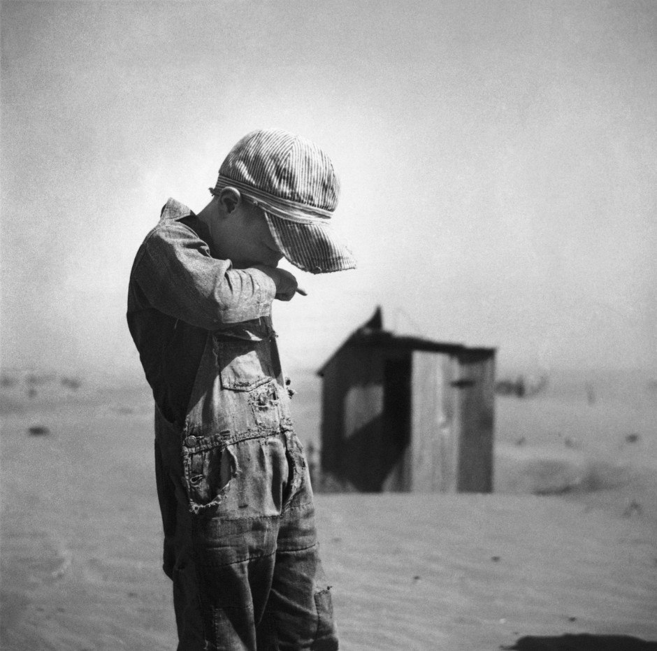 Boy in Dust Bowl