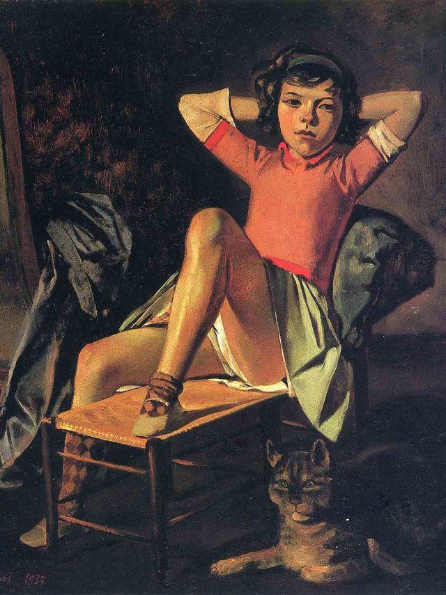 Chica y gato, obra de 1937.